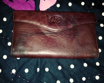 Vintage wallet Buxton leather marbled not stained!