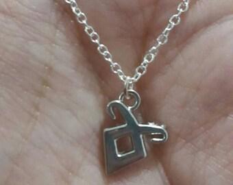 Angelic rune charm necklace
