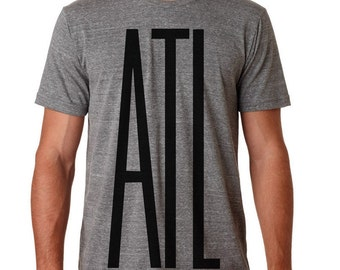 Designer ATL - Atlanta Shirts. Vinyl ATL on Triblend Tee