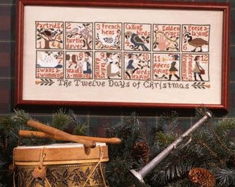 The 12 Days of Christmas Cross Stitch Chart by Prairie Schooler