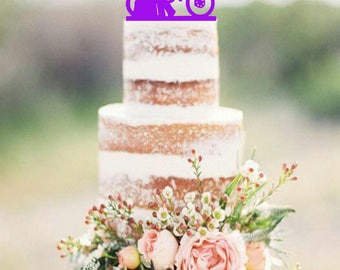 Dirt Bike Couple Wedding Cake Topper DirtBike Cake Topper Customized wedding cake topper Dirt Bike Wedding Cake Topper silhouette cake top