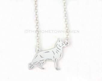 German Shepherd Necklace - Personalized dog necklace, Dog Gift, Dog jewelry
