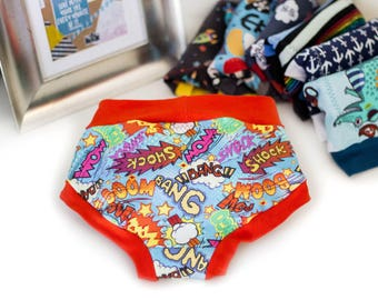 Pop Art! Training Pants - Cloth Training Pants - Potty Training Pants - Cloth Pull Ups -Training Scrundies-Training Underwear-Cloth Trainers
