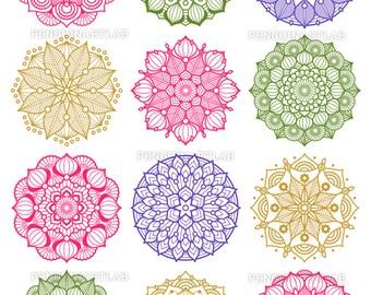 Mandala Design Set SVG Cut Files for Electronic Vinyl Cutter, Cricut Explore, Silhouette Cameo, Screen Printing, svg, eps, dxf, png, studio3