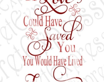 Download If Tears Could Build A Staircase Svg Sympathy Sign Svg by ...