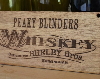 Peaky Blinders Whiskey Sign - Shelby Brothers Cillian Murphy plaque. (8' x 4inches) Great gift for any fan with Free Delivery in the UK