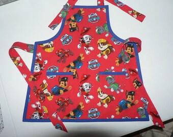 Boys Paw Patrol Apron  Paw Patrol Birthday Gift for Boys Toddler Apron