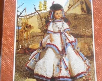 Indian Princess, Fibre Craft, Pattern Leaflet #FCM 238, 1991
