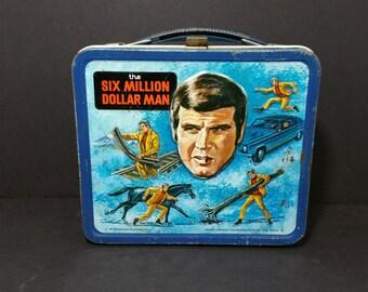 1974 Six Million Dollar Man Metal Aladdin Lunch Box
