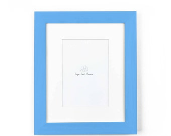 8x10 Picture Frame. Sky Blue 8x10 Frame. Solid Wood 8x10 Photo Frame. 10x8