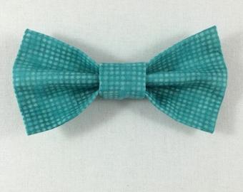Teal Cat Bow tie, Cat tie, Cat Bow tie collar