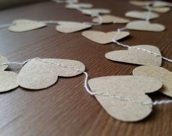 Rustic Wedding, Heart Garland, Backdrop, Wedding paper garland,