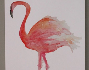 Flamingo - Watercolor Print