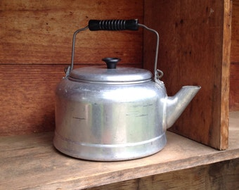 Large One Gallon Aluminum Kettle, Camping Kettle, Water Pot, Large Group Cookware, Large Kettle, Lightweight Camping Cookware