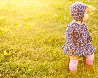 baby bonnet // rifle paper co bonnet // baby sun bonnet // modern baby bonnet // baby sun hat // sun hat // sunbonnet