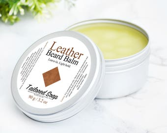 Beard Balm - Leather Anniversary For Him - Tin Beard Stuff - Gifts For Him - Dad, Brother, Boyfriend - Men's Grooming - Facial Hair - 100 ml
