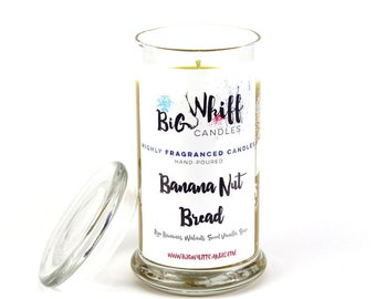 Banana Nut Bread - SALE - 50% off - Scented Candles, Handmade Candles, Scented Candle, Aromatherapy Candles, Banana Nut Candle, Banana Nut