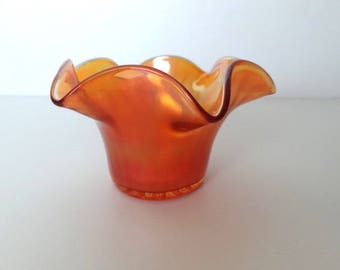 Carnival glass tulip bowl