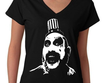 Captain Spaulding - House of 1000 Corpses - Devil's Rejects - Women's V Neck T-Shirt
