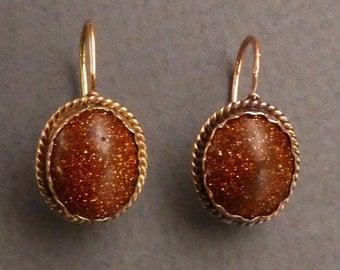 14K Early Goldstone Earrings