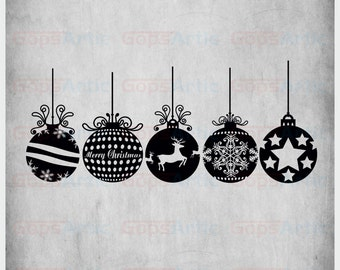Christmas Ornament-SVG,DXF,EPS,Png Files