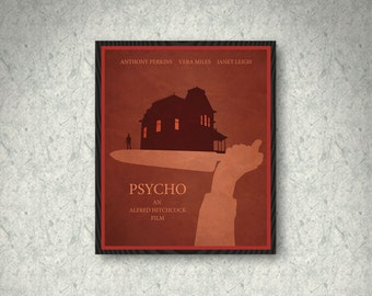 Psycho Movie Poster Print, Home Decor, Print Art Poster