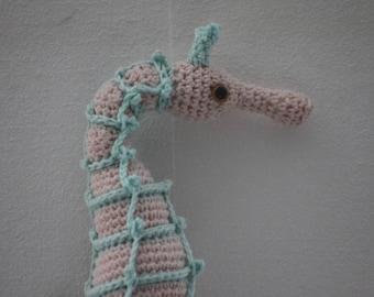 Handmade seahorse, 100% cotton, baby safe