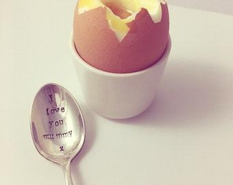 I Love You Mummy Silver Plated Teaspoon