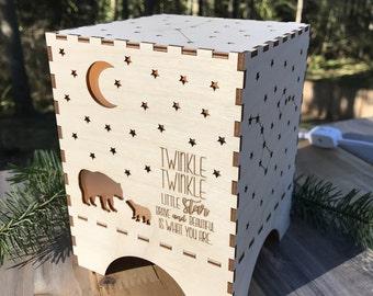 "Wooden ""Brave Bear"" - Night Light"
