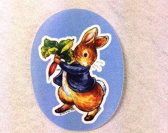Beatrix Potter Peter Rabbit Patch Blue Peter Rabbit Iron On Applique Beatrix Potter Patch Nr 2