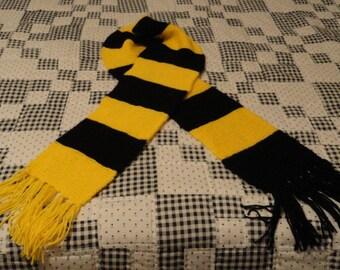 Handmade Black and Yellow scarf