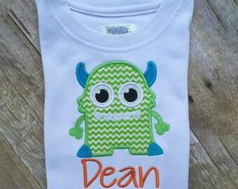 Boys Monster Birthday Shirt, Monster Shirt, Toddler Monster Shirt, Birthday Boy Tshirt, First Birthday Shirt, Personalized Birthday Shirt