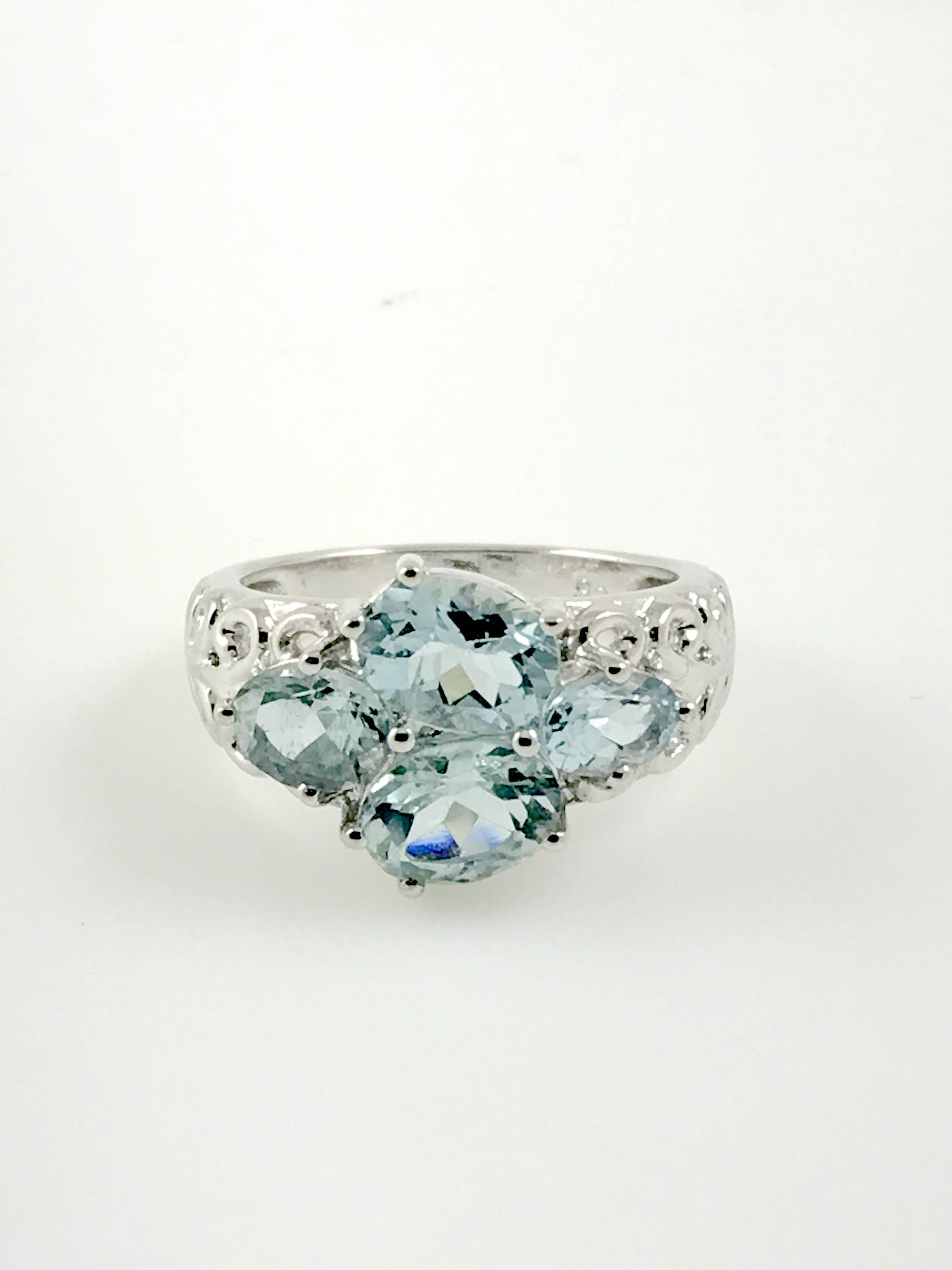 aquamarine rings march birthstone engagement ring for