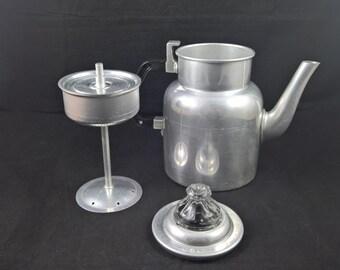 Vintage Coffee Pot Coffee Kettle Metal Kettle Swedish Kettle Percolator kettle Serving Coffee Glass Metal Coffee pot Swedish