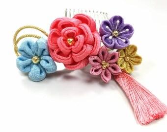 "Thumb crafted ornament ""coral pink hanawabuilding ornament."""