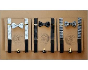 suspenders bowtie set