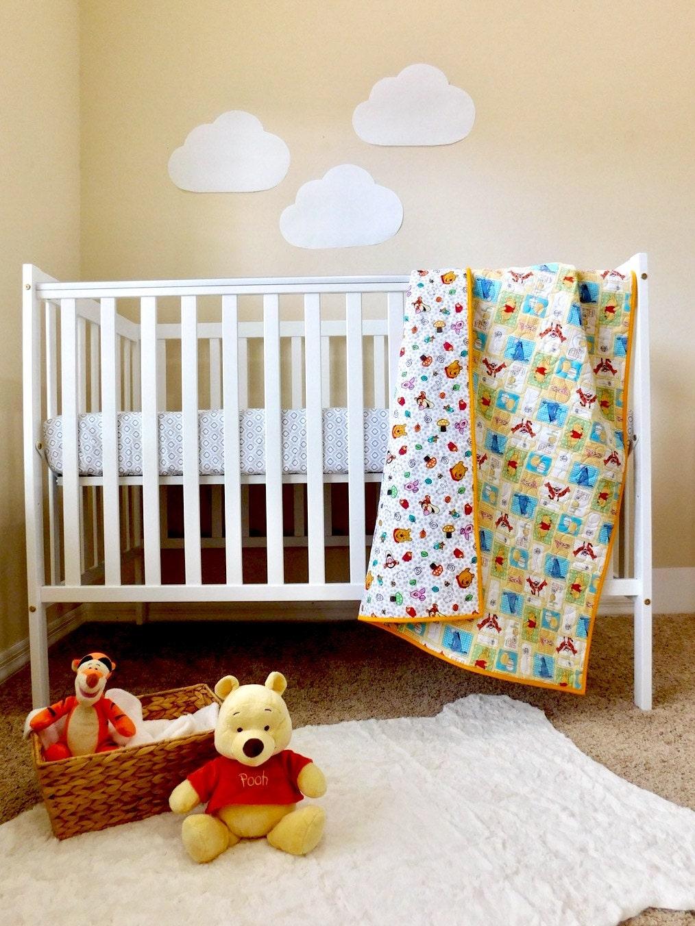 winnie the pooh baby quilt winnie the pooh nursery winnie. Black Bedroom Furniture Sets. Home Design Ideas