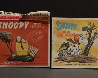 Vintage B544 1969 Cartoon Favorites Snoopy and the Red Baron GAF View Master Reels