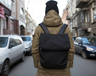 Stylish Backpack / laptop bag / rucksack / travel backpack / school backpack / simple black bag