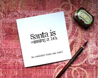 Adult Christmas Card, Sister Christmas Card, Ho Card, Funny Christmas, Banter Christmas, Best Friend, Christmas Card, Santa Ho Card, Funny