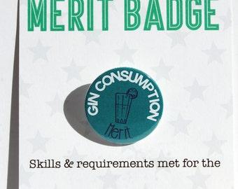 Gin Consumption Adult Merit Badge