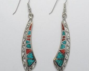 Turquoise earrings - Native american earrings - Vintage earrings