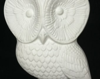 Owl Sculpture Unpainted Plaster Art & Craft Project for Painting