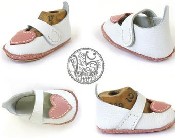 First Step Baby Shoes - Natural Leather baby Shoe - Lovely Mary - Completed Crib Shoes - Mary Jane