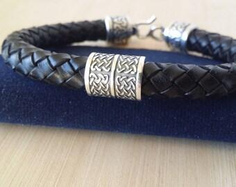 Handmade Leather Celtic Bracelet