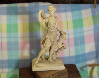 SALE!!  G. Ruggeri Sculpture- Female with Goat, Classical!  Beautiful Woman Figure (was 32.00)