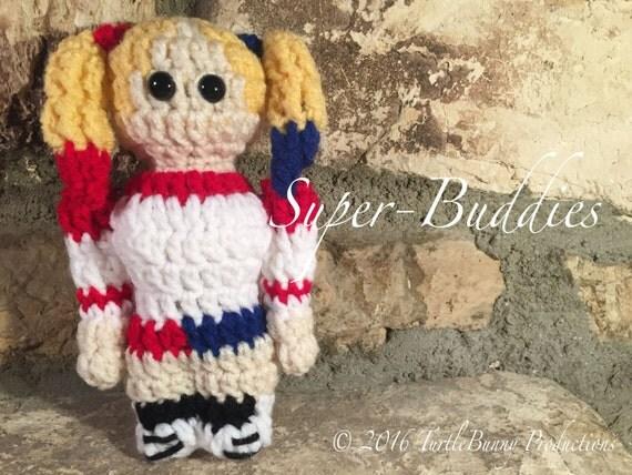 Harley Quinn Supervillain Inspired Nerd Crochet