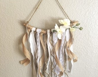 Wall decor - orchid branch wall hanging