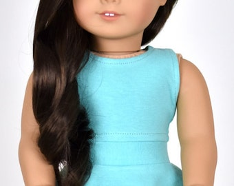 Cropped top 18 inch doll clothes Color Mint/Aqua