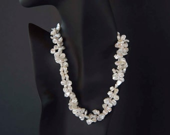 weaved Keshi Pearls necklace